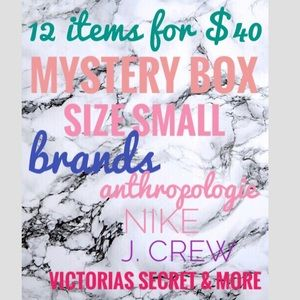 Mystery box size small 12 items for $40